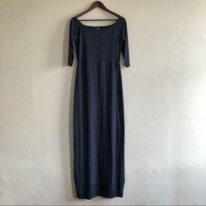 Navy Blue Off Shoulder Maxi Dress